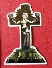 "Sticker Decal "" Sexy at the cross "" Gloss-Optics Stickerbomb Skateboard Laptop"