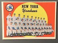 1959 Topps #510 New York Yankees Team Card High Number NM