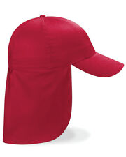 Beechfield KIDS LEGIONNAIRE CAP SUMMER LONG HAT SUN PROTECTION NECK EARS COVER