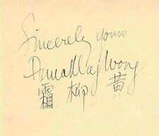 ANNA MAY WONG SIGNED AUTOGRAPH