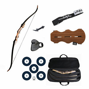 """SAS Sage Traditional Takedown 62"""" Recurve Bow Full Accessories Package"""
