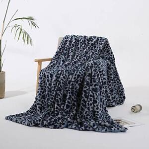 Styho Super Soft Blanket Leopard Print Mink Faux Fur Throw 160 x 200cm