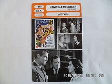 CARTE FICHE CINEMA 1945 L'INVISIBLE MEURTRIER Joel McCrea Gail Russell