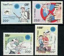 LAOS N°1037/1040**  Médecine, santé, 1992 Medicine Health Day Sc#1063-1066 MNH