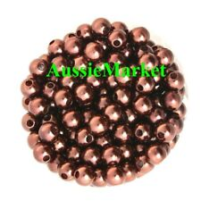 50 x beads imitation pearls chocolate brown ladies girls necklace bracelet craft