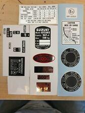 SUZUKI GT250 X7  WARNING LABEL DECAL KIT