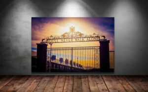 LIVERPOOL ANFIELD FOOTBALL - YOU'LL NEVER WALK ALONE SUNSET 30x20 Inch Canvas 1