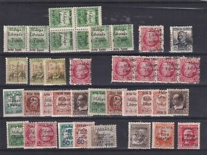 0034  Spain ( Civil war) Nice lot of stamps see scan