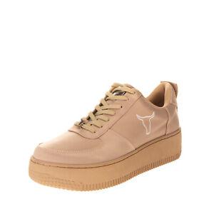 RRP €110 WINDSOR SMITH Satin Sneakers Size 38 UK 5 US 7 Flatform  Logo Lace Up