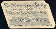 GEORGE DIXON-JACK SKELLY ORIGINAL FULL TICKET (1892)