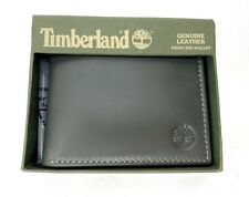 Timberland Men's Genuine Charcoal Passcase Wallet.  New in Box