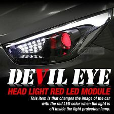 Devil Eye Headlight Lamp Projector Lens Red Color Power LED Module For KIA Car