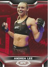 ANDREA LEE 2020 Topps UFC Knockout RUBY card #4/8
