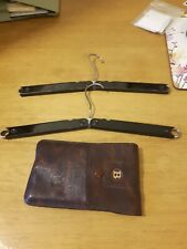 Antique Travel Coathangers With Leather Case