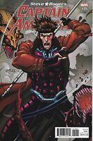 Captain America Steve Rogers Comic 19 Gambit Variant 2017 Jesus Saiz Marvel