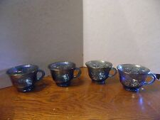 4 Colony Harvest Carnival Blue Grapes And Leaves Snack Punch Cups