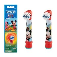 Braun Oral-b eb10-2 Mickey Mouse Niños Cepillo De Dientes Repuesto cabezal del cepillo Pack 2