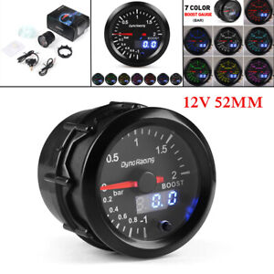 "2"" 52mm LED Car Digital Turbo Boost Gauge PSI Pressure Meter Pointer Vacuum Kit"