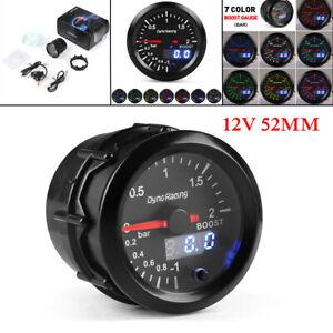 "2"" 52mm LED Car Digital Turbo Boost Gauge PSI Pressure Meter Pointer Vacuum Kit"