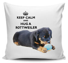 Keep Calm And Hug A Rottweiler Cushion Cover - 40cm x 40cm