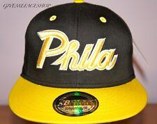 PHILADELPHIA GORRA snapback, PHILA hip hop Ajustada, Bling Béisbol Plano Peaks
