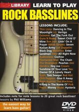 LICK LIBRARY Learn To Play ROCK BASSLINES U2 Thin Lizzy Rush YES BASS GUITAR DVD