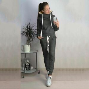 Winter Tracksuit Clothing Pullover Hooded Tops And Ankle-Length Pants Sportswear