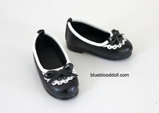 1/4 bjd msd girl doll black flat shoes for large fat feet Kate Wiggs Myou shipUs
