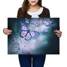 A2 | Beautiful Flight Butterflie Magic Size A2 Poster Print Photo Art Gift #2417