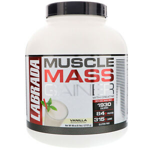 Muscle Mass Gainer with Creatine, Vanilla, 6 lbs (2722 g)