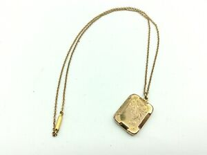 Fantastic Antique Victorian 9ct Rolled Gold Necklace Chain & Photo Locket Fob