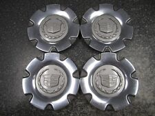 Set of (4) 03-06 OEM Cadillac SRX Center Caps Polished & Graphite 9594307 4581