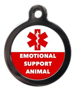 Emotional Support Animal Pet ID Tags Dog Cat Medical Tags Pet Tags Engraved Free