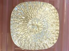 8 Inch. Caviar Serving Plate, Mother of Pearl decorative dish Handmade