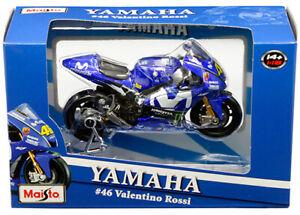 Maisto Yamaha Motorcycle 1:18 Scale MotoGP #46 Valentino Rossi Die-Cast - New