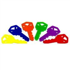 6 Plastic Keys for Bird Toys and Promotional Use Schools, Churches Dealerships