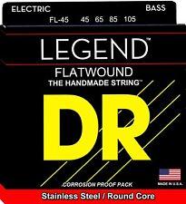 DR LEGEND FL-45 Flatwound Stainless Steel Bass Guitar Strings 45-105 MED