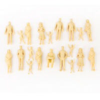 20 unpainted Model Train People Figure G Scale 1:25 assorted poses Passenger