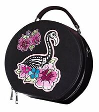 HELL BUNNY skelemingo FLAMINGO Scheletro Bag Borsa Beauty Case Tiki Rockabilly