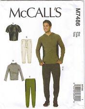 Easy Mens Athletic Raglan Sleeve Top Drawstring Pants Sewing Pattern S M L 34-44