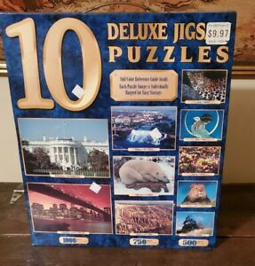 Vintage Sure-Lox Full Size Deluxe Jigsaw Puzzles (10 in box) NIB!