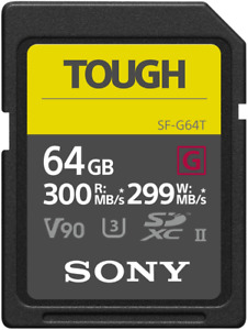 Sony Tough SDXC UHS-II SD Memory Card Up To 300MB/s - 64GB