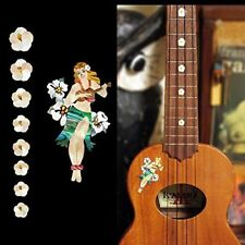 Acoustic & Classical Guitar Parts Ukulele-Fretboard Markers Hula Girl Inlay SET