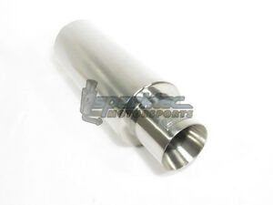 """DC Universal Stainless Steel Round Exhaust Muffler 2.5"""" Inlet 4"""" Outlet EX5015"""