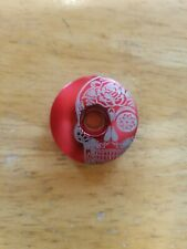 "Mexican Day of the Dead Sugar Skull Bicycle Headset Top Stem Cap 1 1/8"" Red"
