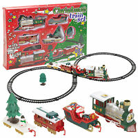 Christmas Musical Train & Track Toys Set Kids Party Birthday Gift Decoration New