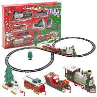 Santa Navidad Árbol Tren Rastrear Juego Niños Juguetes Decoración Regalo Luces Y
