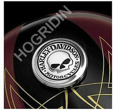 Harley Willie G skull sportster xl custom gas fuel tank cap cover medallion