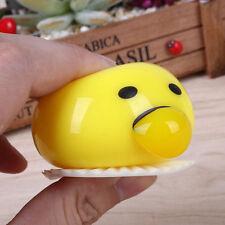 UK STOCK Cute Egg Yolk Yelk Yuck Custard Bun Vomit Puke Stress Relief Funny Toys