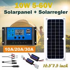 Solarpanel Solarmodul 10W 12V/5V Solarzelle Wohnmobil Wohnwagen mit Regler